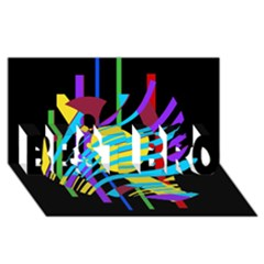 Colorful abstract art BEST BRO 3D Greeting Card (8x4)