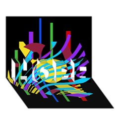 Colorful Abstract Art Hope 3d Greeting Card (7x5)