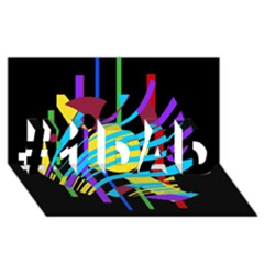 Colorful abstract art #1 DAD 3D Greeting Card (8x4)