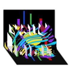 Colorful abstract art You Did It 3D Greeting Card (7x5)