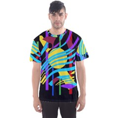 Colorful abstract art Men s Sport Mesh Tee