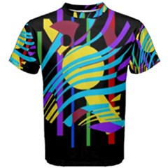 Colorful abstract art Men s Cotton Tee