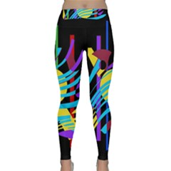 Colorful abstract art Yoga Leggings