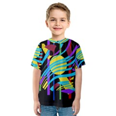 Colorful abstract art Kid s Sport Mesh Tee