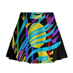Colorful abstract art Mini Flare Skirt