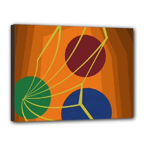 Orange abstraction Canvas 16  x 12