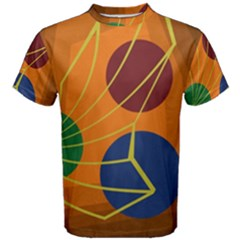 Orange abstraction Men s Cotton Tee
