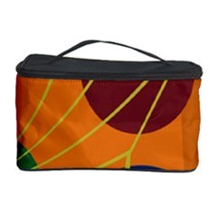 Orange abstraction Cosmetic Storage Case