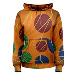 Orange abstraction Women s Pullover Hoodie
