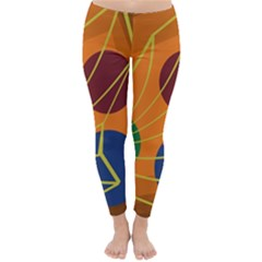 Orange abstraction Winter Leggings