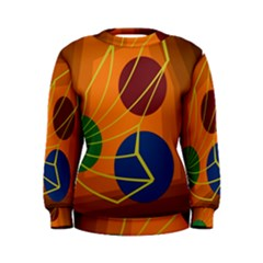 Orange abstraction Women s Sweatshirt