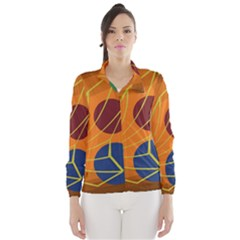 Orange abstraction Wind Breaker (Women)
