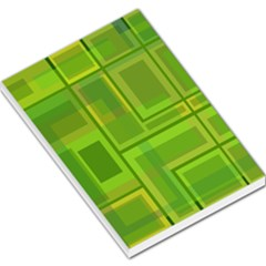 Green pattern Large Memo Pads
