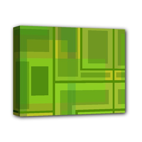 Green pattern Deluxe Canvas 14  x 11