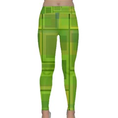 Green pattern Yoga Leggings
