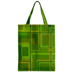 Green pattern Zipper Classic Tote Bag