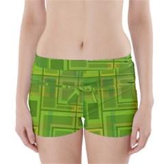 Green pattern Boyleg Bikini Wrap Bottoms