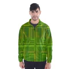 Green pattern Wind Breaker (Men)