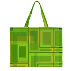 Green pattern Large Tote Bag