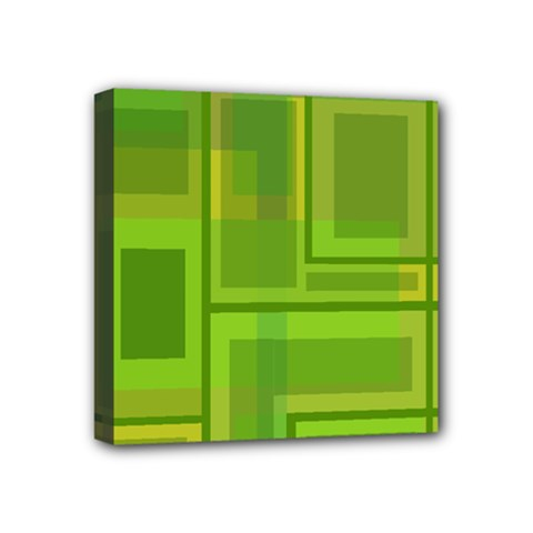 Green pattern Mini Canvas 4  x 4
