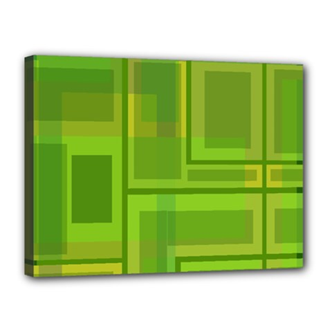 Green pattern Canvas 16  x 12