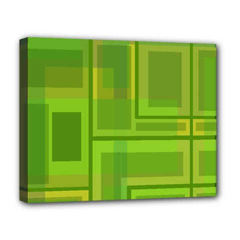 Green pattern Deluxe Canvas 20  x 16