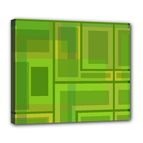 Green pattern Deluxe Canvas 24  x 20
