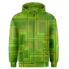 Green pattern Men s Zipper Hoodie