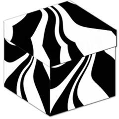 Black and white pattern Storage Stool 12