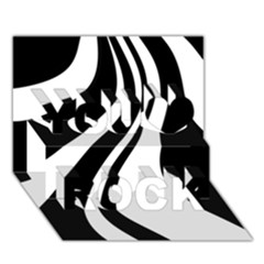 Black and white pattern You Rock 3D Greeting Card (7x5)