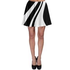 Black and white pattern Skater Skirt