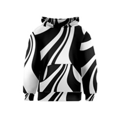 Black and white pattern Kids  Pullover Hoodie