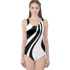 Black and white pattern One Piece Swimsuit