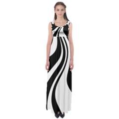 Black and white pattern Empire Waist Maxi Dress