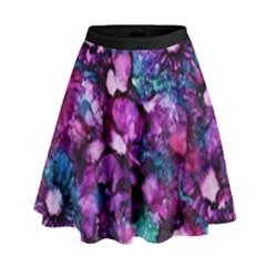 Underwater Garden High Waist Skirt