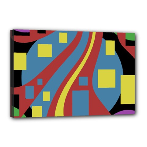 Colorful abstrac art Canvas 18  x 12