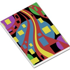 Colorful abstrac art Large Memo Pads