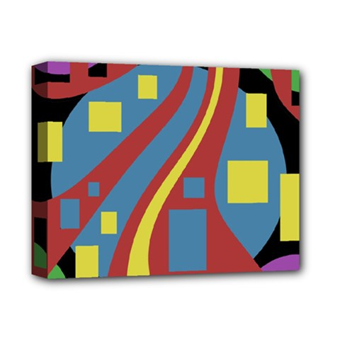 Colorful abstrac art Deluxe Canvas 14  x 11