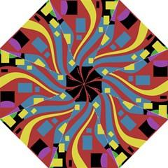 Colorful abstrac art Hook Handle Umbrellas (Large)
