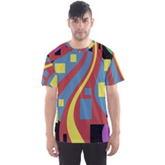 Colorful abstrac art Men s Sport Mesh Tee
