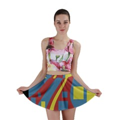 Colorful abstrac art Mini Skirt