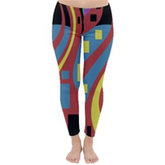 Colorful abstrac art Winter Leggings
