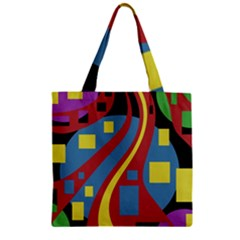 Colorful abstrac art Zipper Grocery Tote Bag