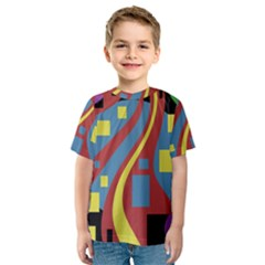 Colorful abstrac art Kid s Sport Mesh Tee
