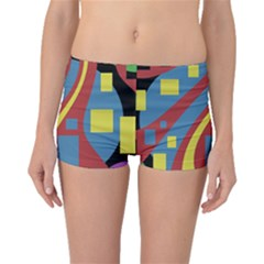 Colorful abstrac art Boyleg Bikini Bottoms