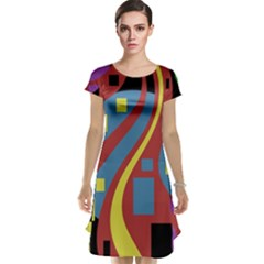 Colorful abstrac art Cap Sleeve Nightdress