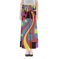 Colorful abstrac art Maxi Skirts