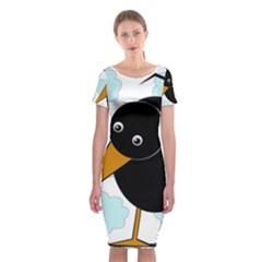 Black Raven Classic Short Sleeve Midi Dress
