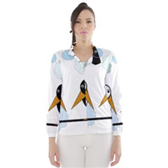 Black and white birds Wind Breaker (Women)
