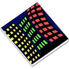 Colorful abstract city landscape Small Memo Pads